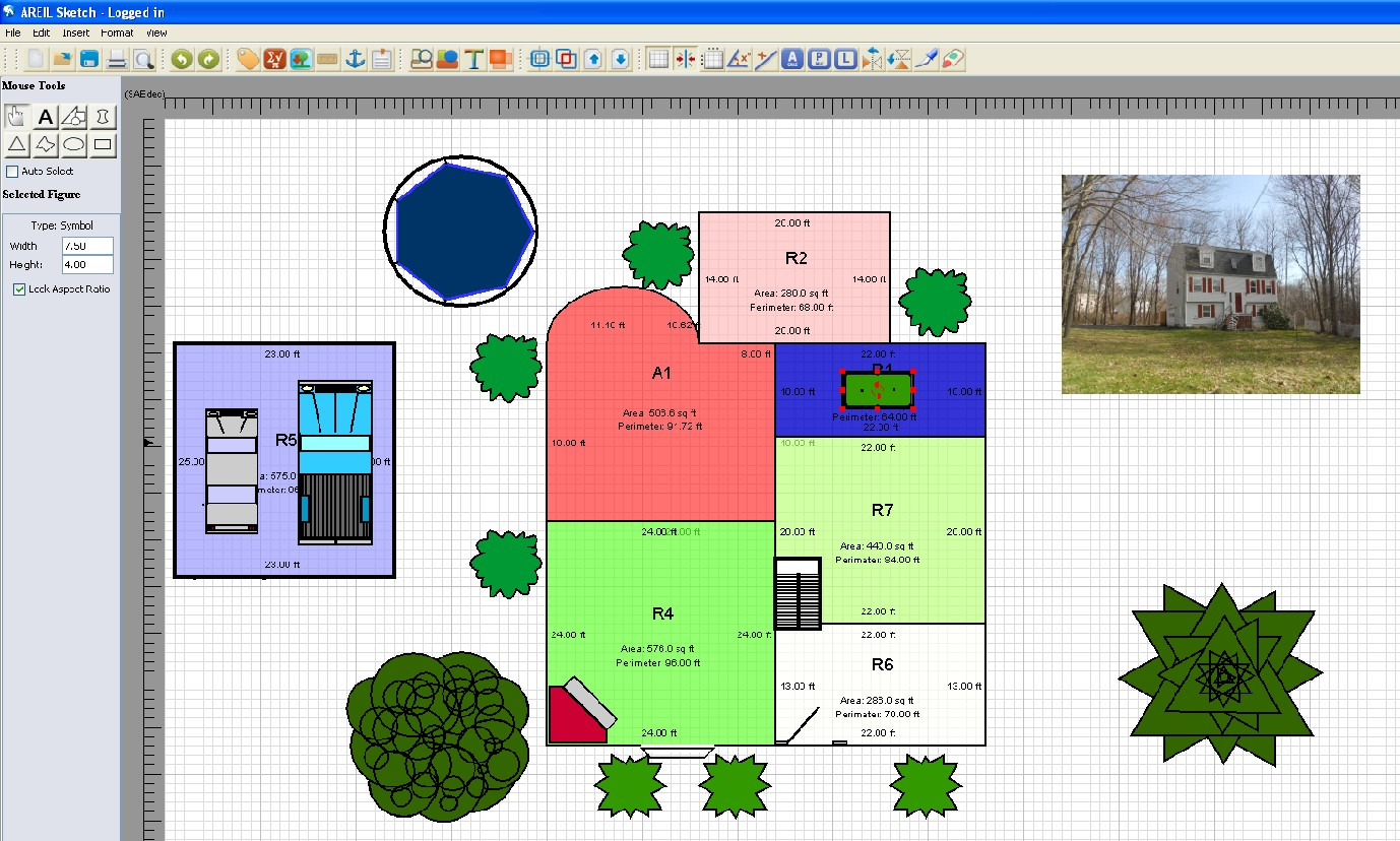Download areil sketch floor plan software free graphic apps cad Free plan drawing software